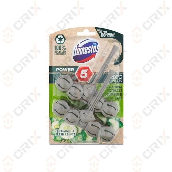 Domestos WC Power 5 Odorizant vas toaleta cucumber & fresh leaves 2x55 g